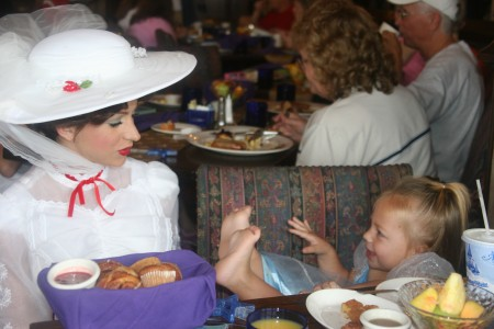 Sophie, age 2, at Cinderella's Castle in Disneyworld. Mary Poppins was not amused!