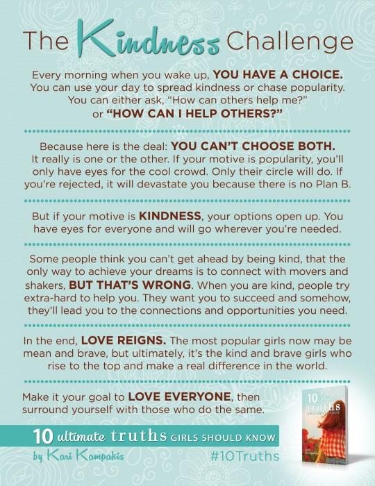 10 Truths - KindnessChallengeBEST
